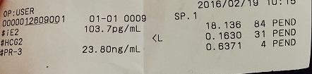 【体外受精2周期目】27, 判定日 結果は既にわかってるけど血液検査 ET14