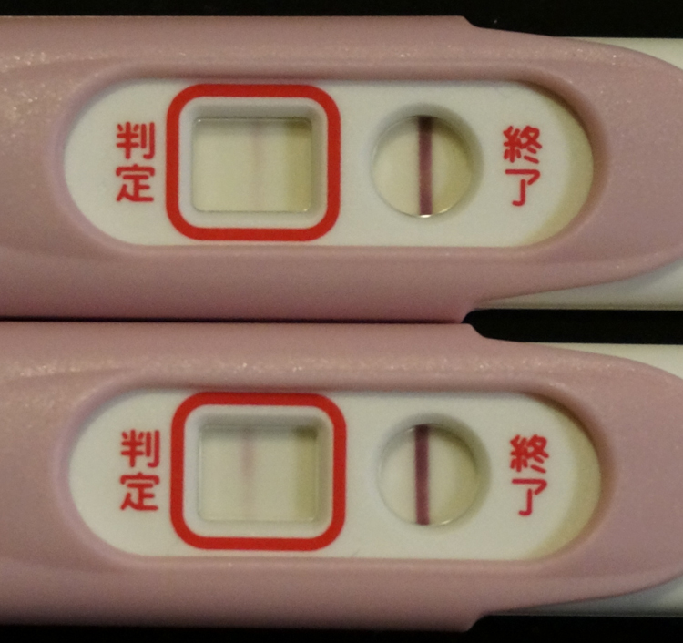 妊娠検査薬D25ET10高温期11日目