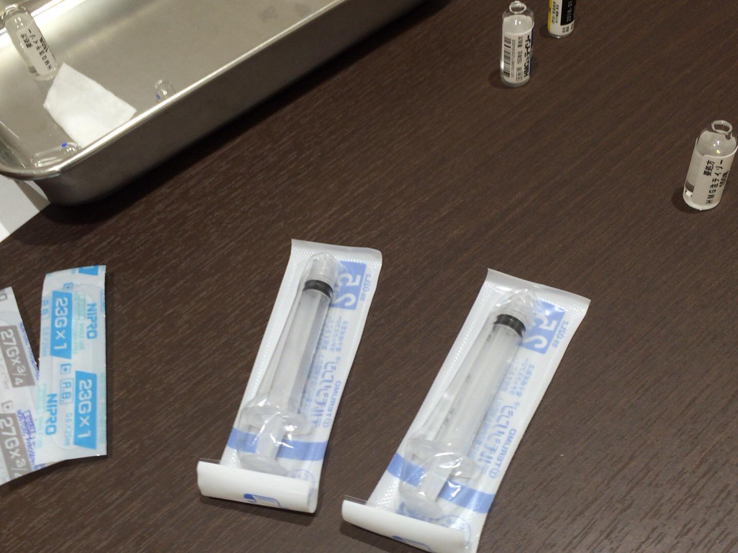 【体外受精1周期目】9,  採卵に向けて初めての自己注射!D5